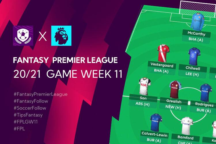 เทคนิค จัดทีม วางแผนใน Fantasy Premier League TH GameWeek 11