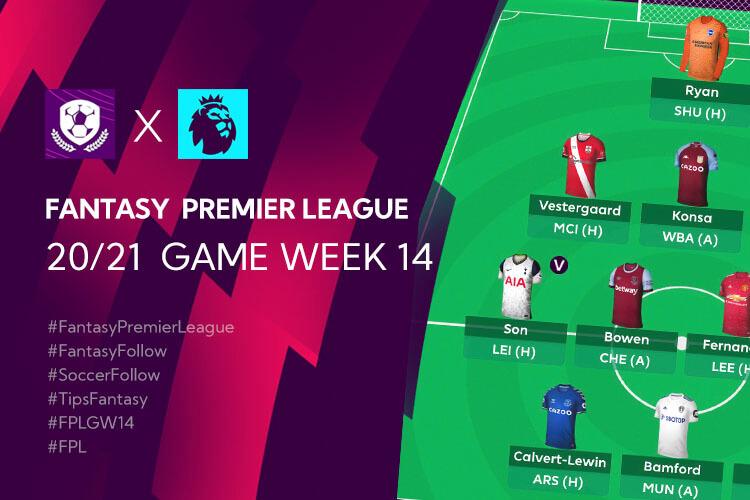 เทคนิค จัดทีม วางแผนใน Fantasy Premier League TH GameWeek 14